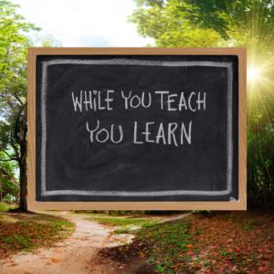 while you teach you learn